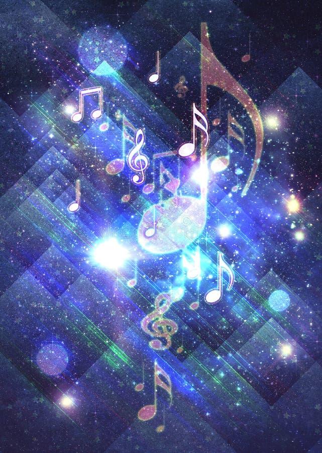 Glowing retro music poster royalty free illustration