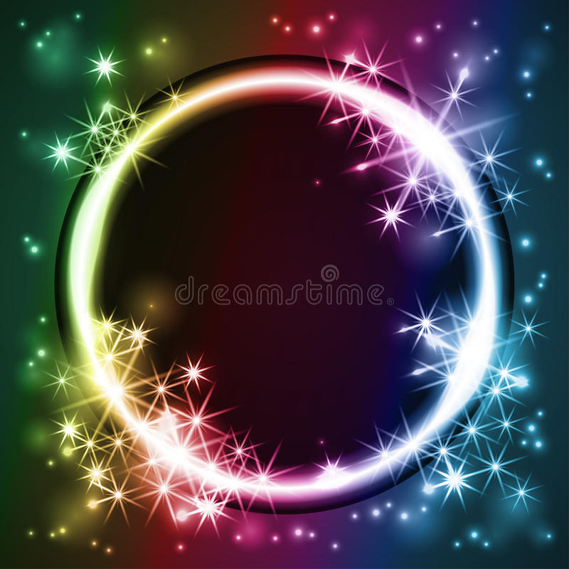 Glowing round frame, vector stock images