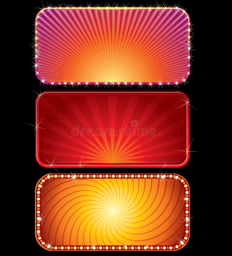 Download Glowing signs stock vector. Image of illuminated, bill - 15722105