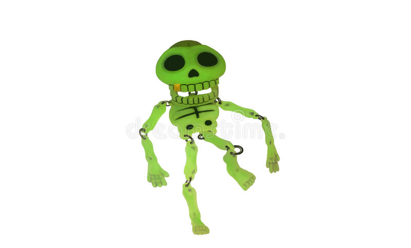 Glowing skeleton royalty free stock photo