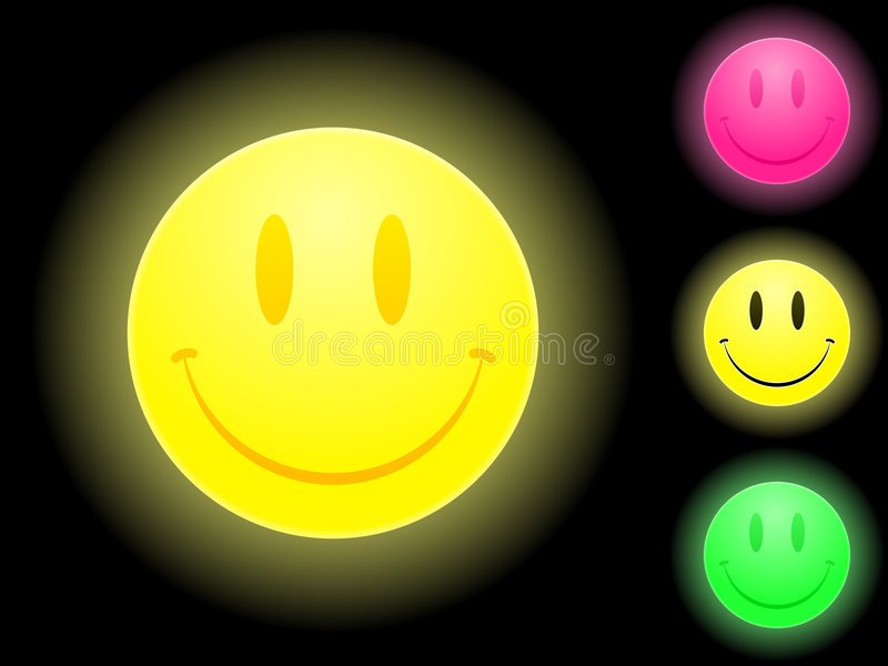 Glowing smiley face royalty free illustration