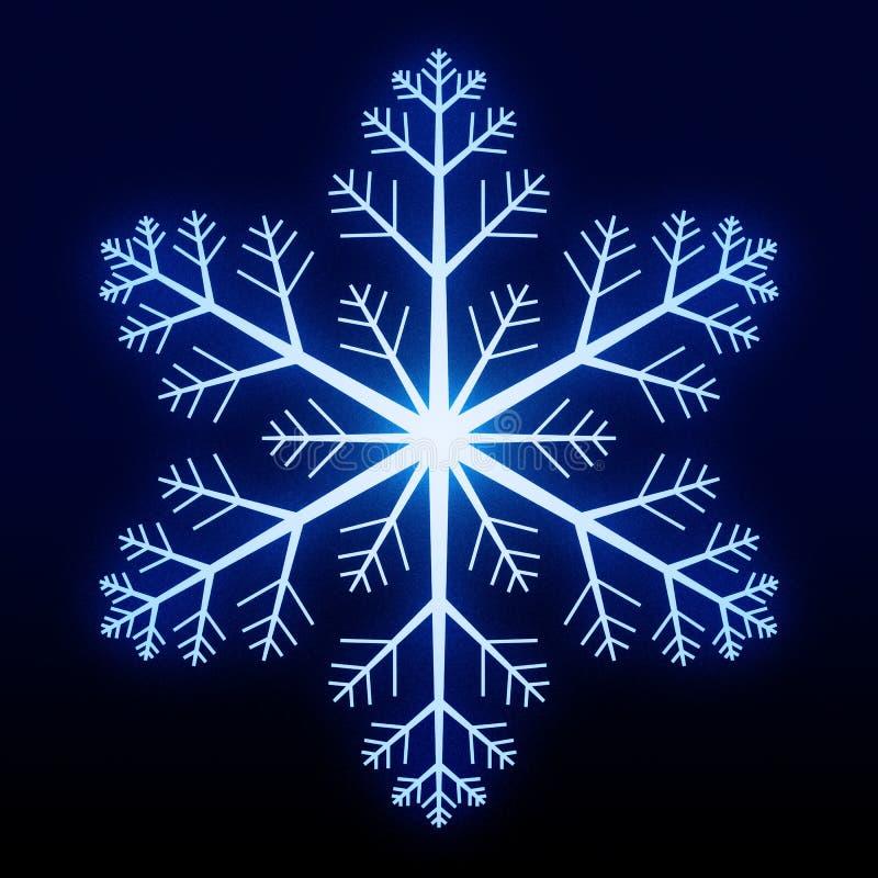 Glowing Snowflake stock photos