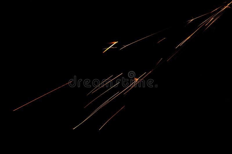 Glowing Sparks in the Dark royalty free stock photo