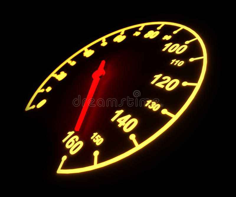 Download Glowing speedometer dial stock illustration. Illustration of measuring - 33582187