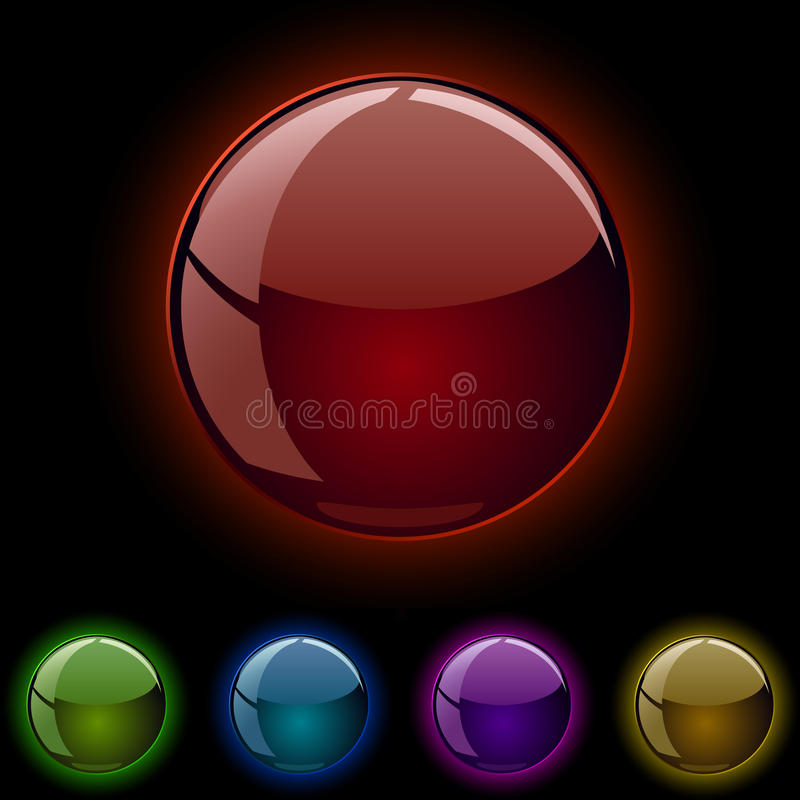 Download Glowing spheres stock vector. Image of blank, abstract - 13713505