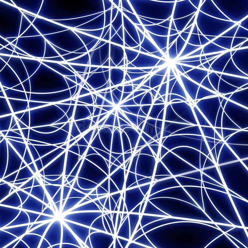 Glowing spider web royalty free illustration