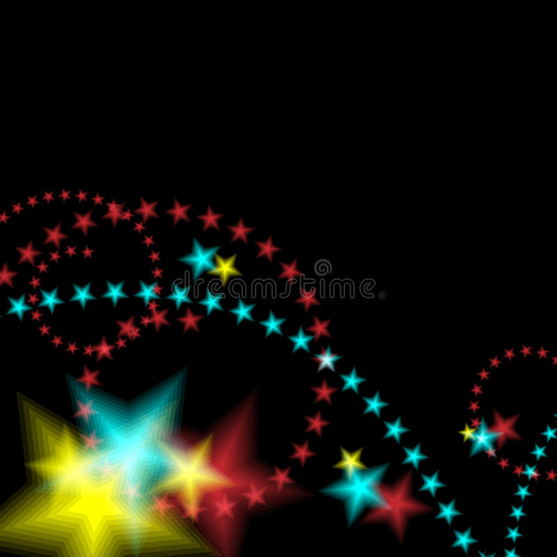 Glowing Star Fireworks Background. An image of a glowing star fireworks background royalty free illustration