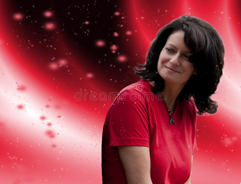 Download Glowing stars woman stock photo. Image of wallpaper, background - 12133154