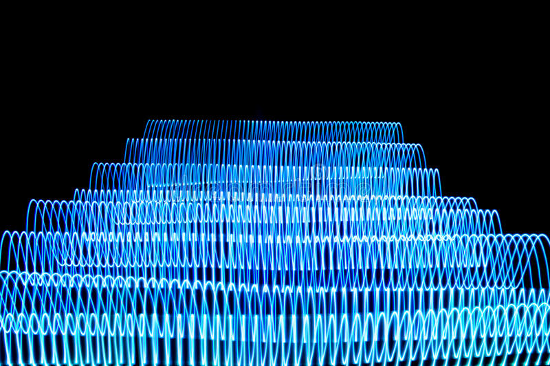 Glowing stripes stock photography