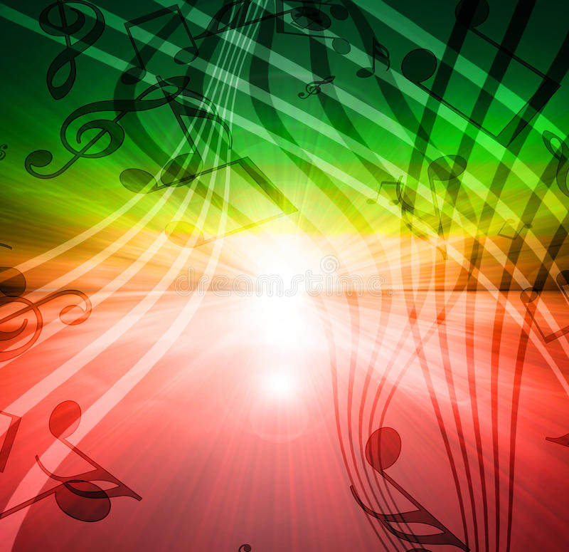 Free Glowing Sunset With Musical Stock Photo - 21796980