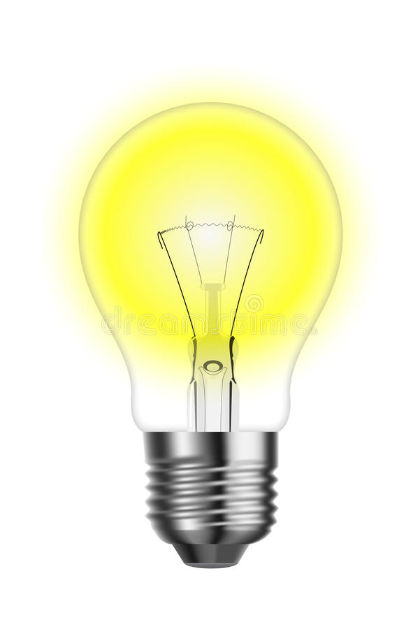 Free Glowing Tungsten Lightbulb Royalty Free Stock Photos - 12788838