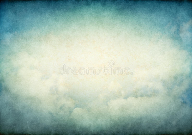 Glowing Vintage Clouds royalty free stock photography