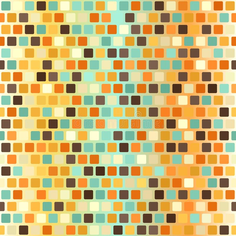 Glowing vintage rounded square background. Seamless vector pattern vector illustration