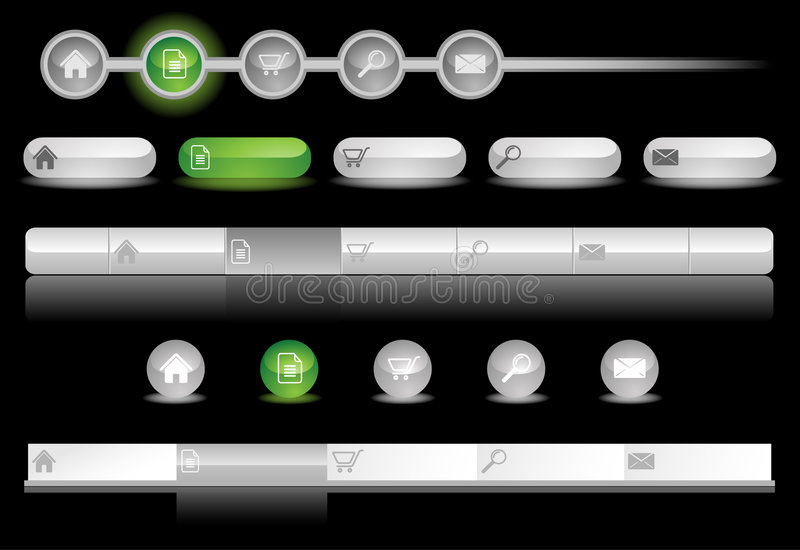 Download Glowing Website Templates stock vector. Illustration of buttons - 7904692