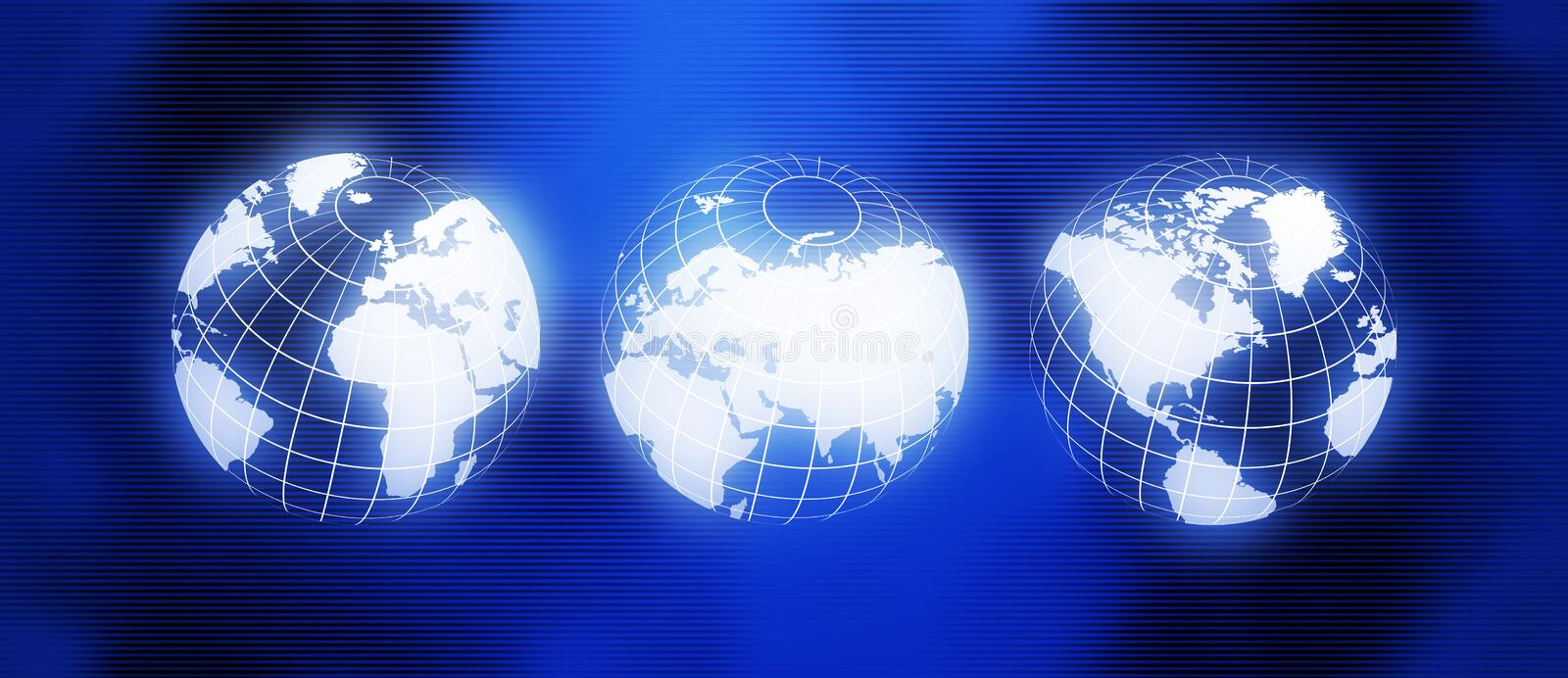 Glowing World map. Technology background vector illustration