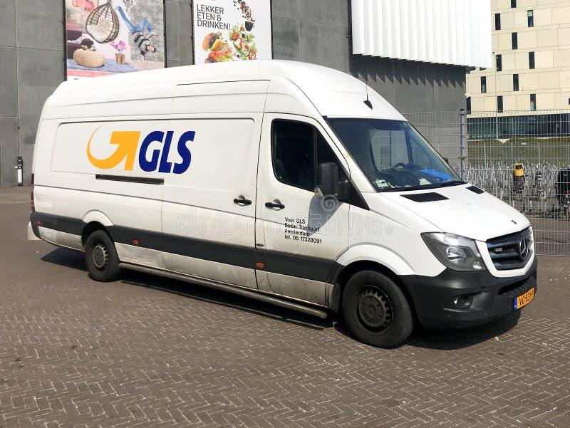 GLS pakuneczka usługa samochód dostawczy fotografia stock