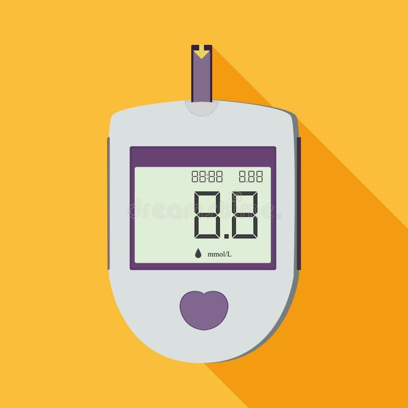 Glucometer elettronico per la gente del diabete fotografie stock libere da diritti