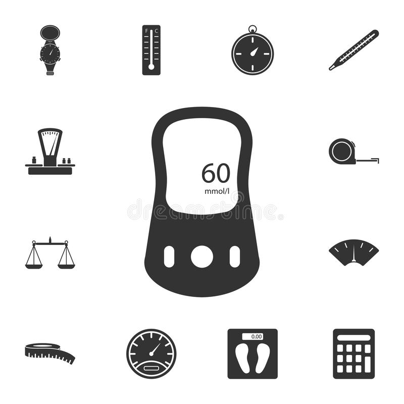 Glucometer icon. Simple element illustration. Glucometer symbol design from Measuring collection set. Can be used in web and mobil royalty free illustration