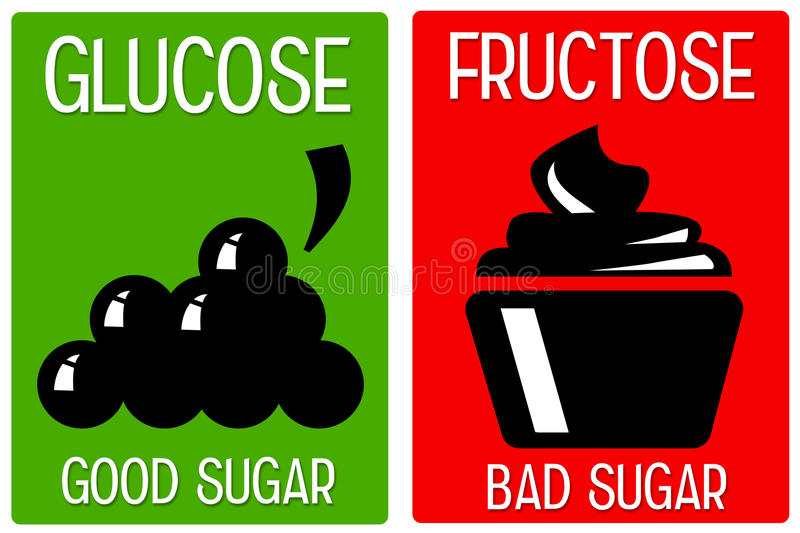Glucose fructose royalty free illustration