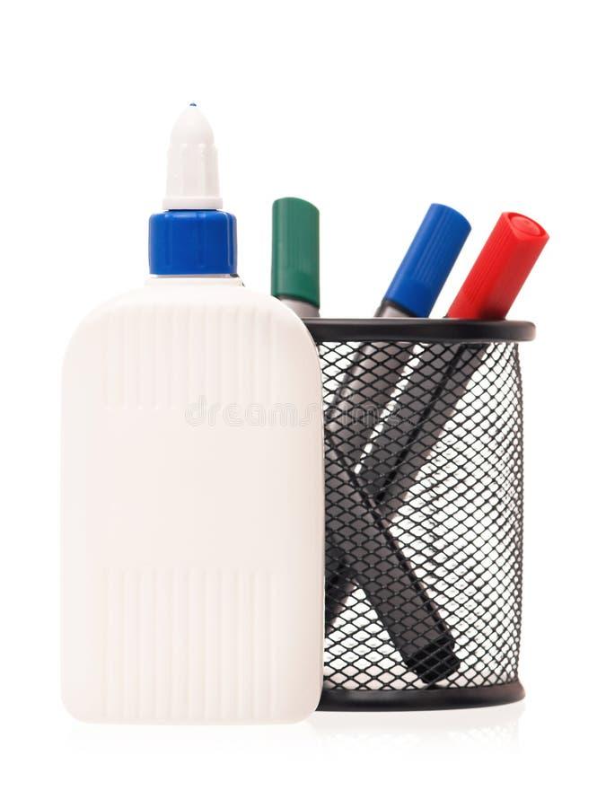 Glue bottle royalty free stock image