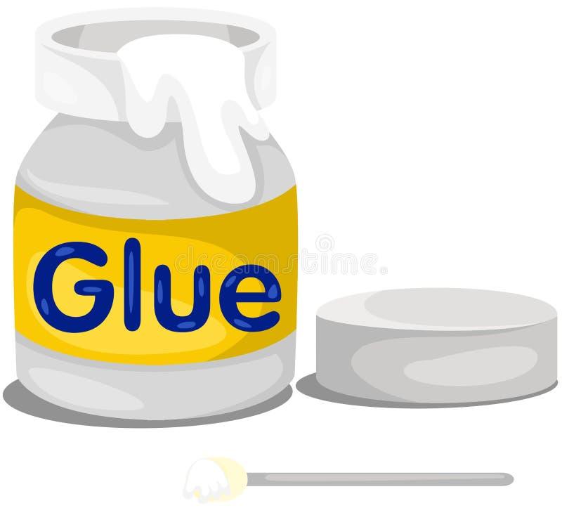 Glue bottle. Illustration of isolated glue bottle on white royalty free illustration