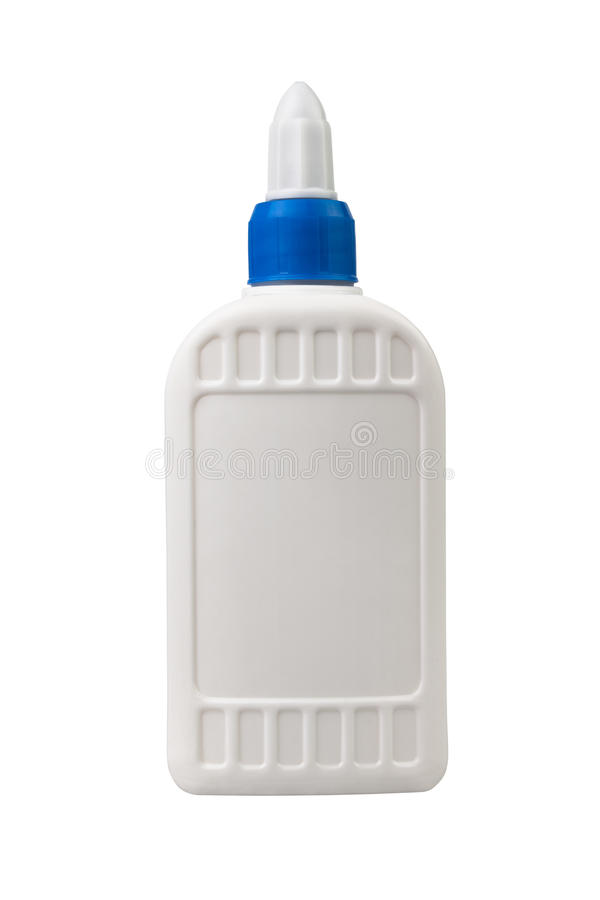 Glue bottle one stock image