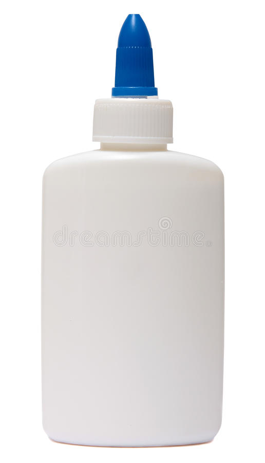Glue. plastic bottle isolated on white background stock images