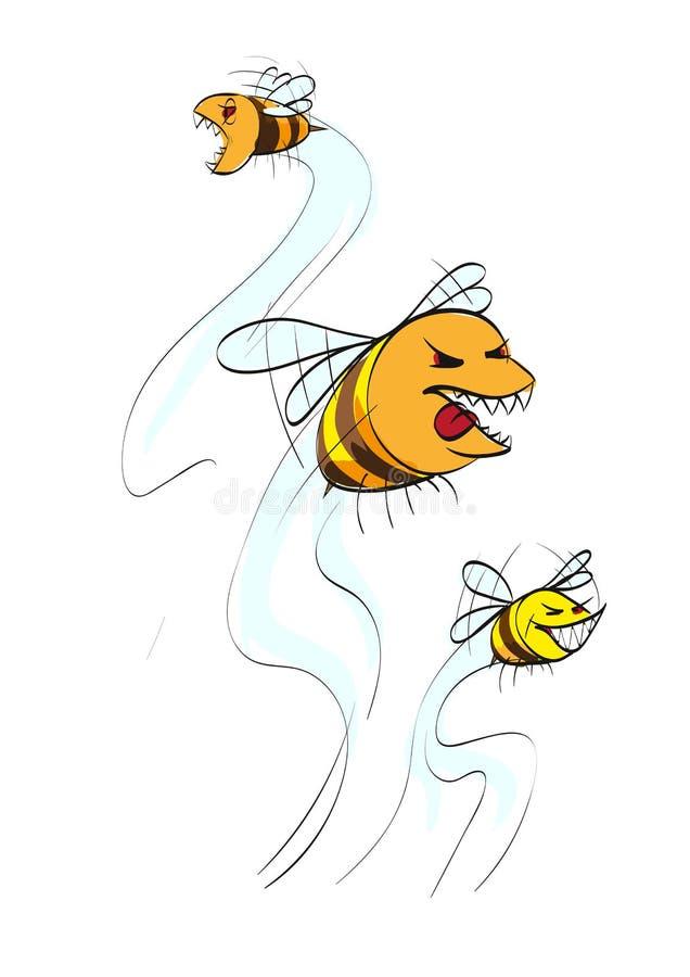 Glupande geting för vektor rov- kryp royaltyfri illustrationer