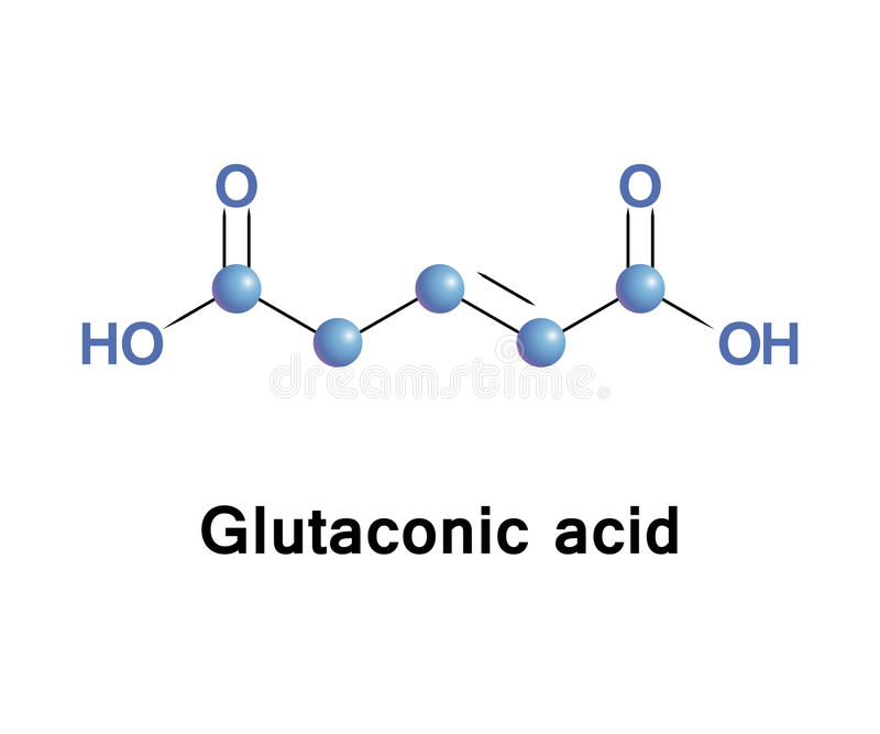 Glutaconic acid organic compound. Glutaconic acid is an organic compound. This dicarboxylic acid exists as a colorless solid and is related to the saturated stock illustration