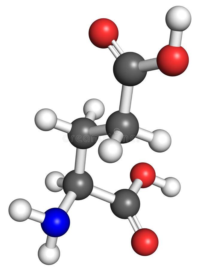 Glutamatmolekyl vektor illustrationer