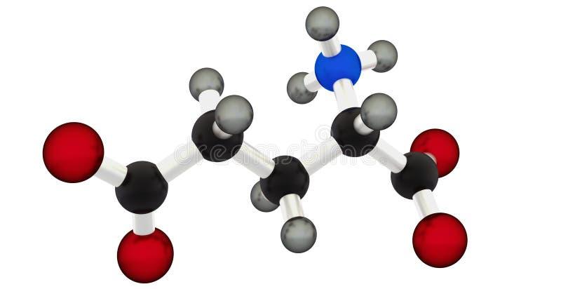Glutamic acid stock image