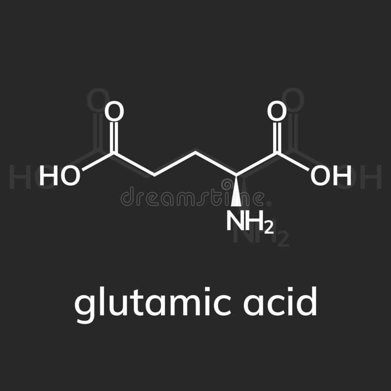 Glutamic zuur op dark vector illustratie