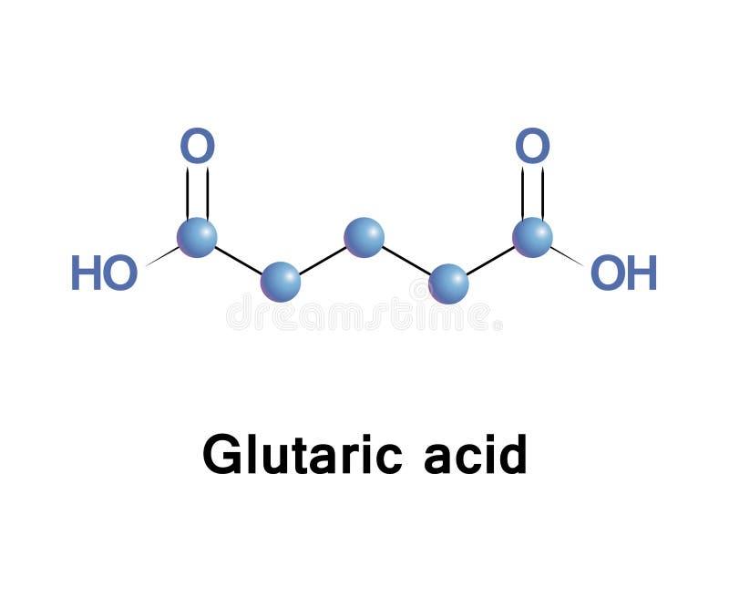 Glutaric zjadliwy metaboliczny royalty ilustracja