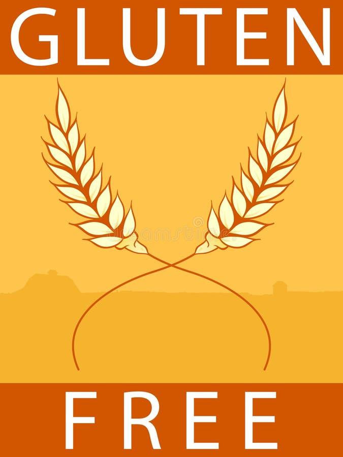 Download Gluten bezpłatna etykietka ilustracja wektor. Obraz złożonej z yellow - 22379517