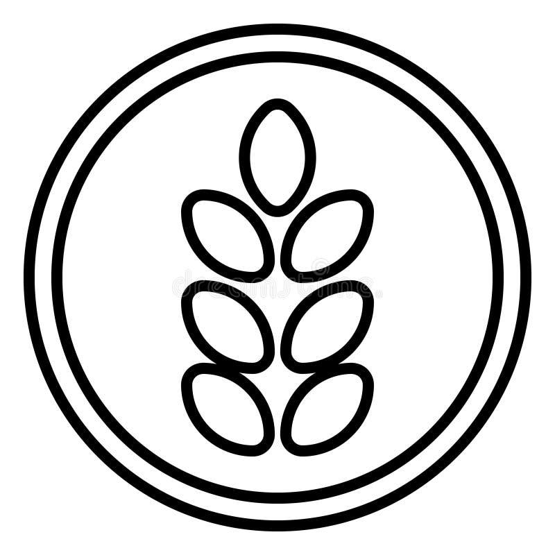 Gluten bezp?atna karmowa wektorowa ikona Alergia produktu Żywienioniowy ilustracyjny symbol ilustracja wektor