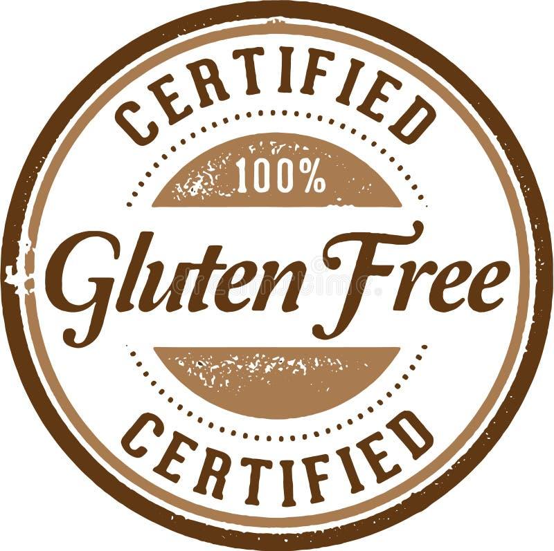 Gluten certifié gratuit illustration libre de droits
