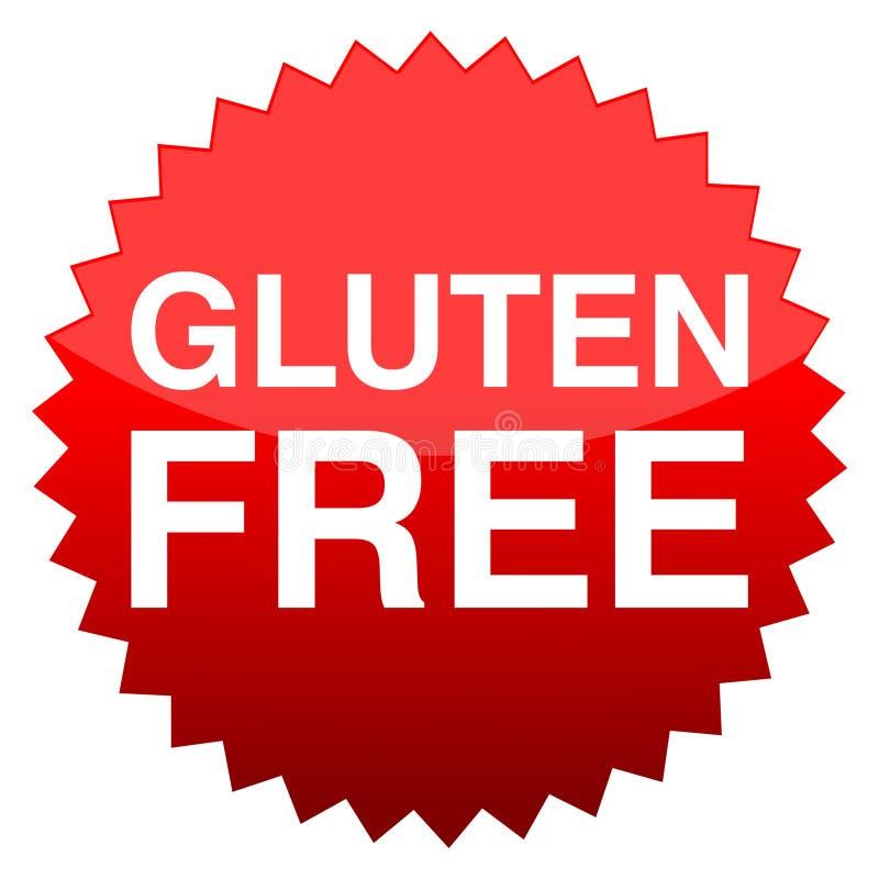 Gluten de bouton rouge gratuit illustration libre de droits