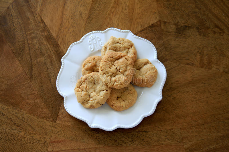 Gluten free ANZAC cookies. Plate of gluten free ANZAC cookies royalty free stock images