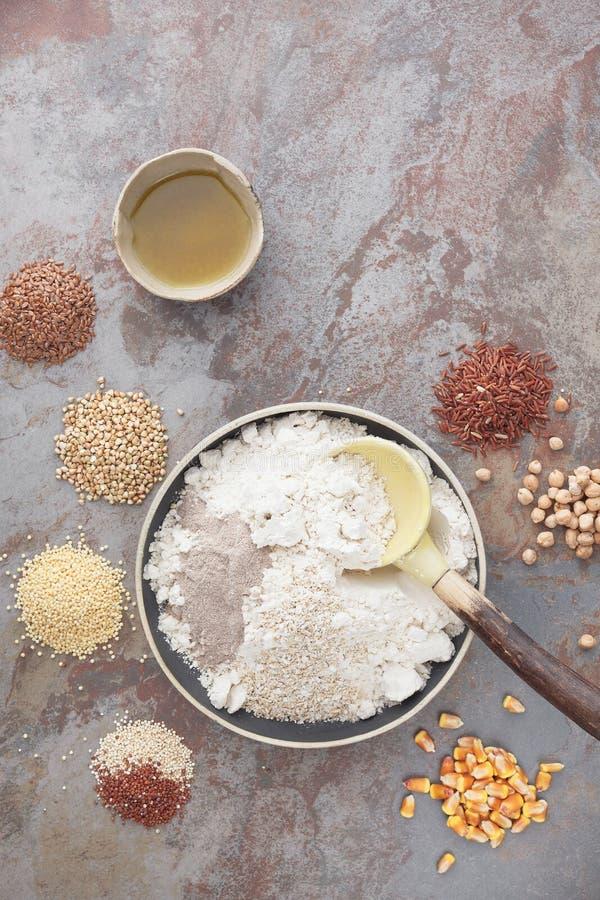Gluten Free Baking stock photo