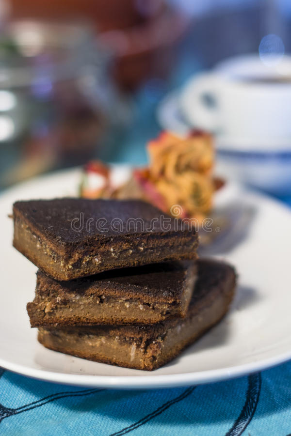 Gluten free brownie royalty free stock images