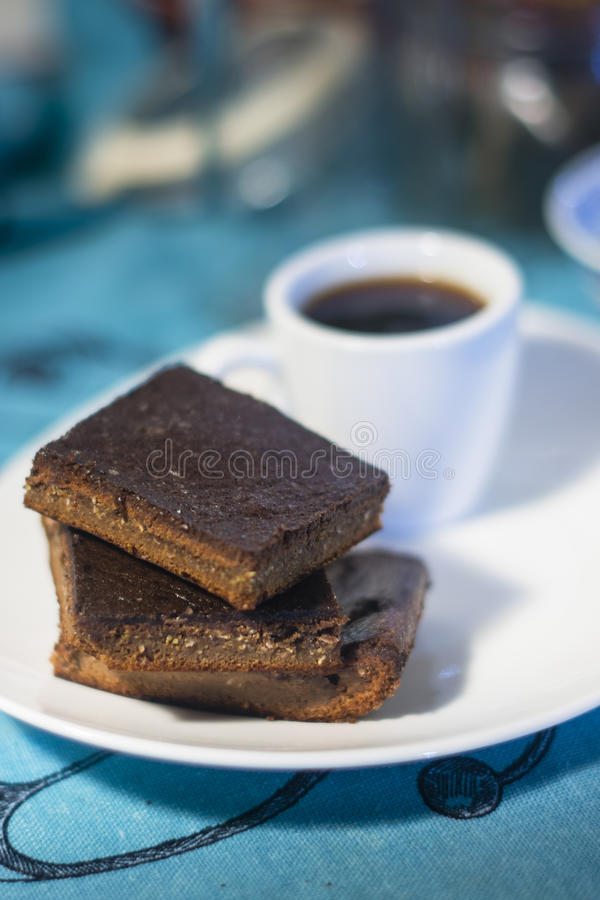 Gluten free brownie stock photography