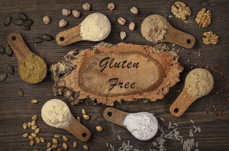 Gluten free flours stock image