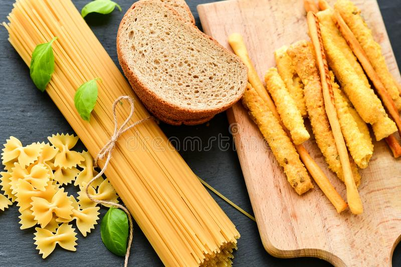 Gluten free food. royalty free stock images