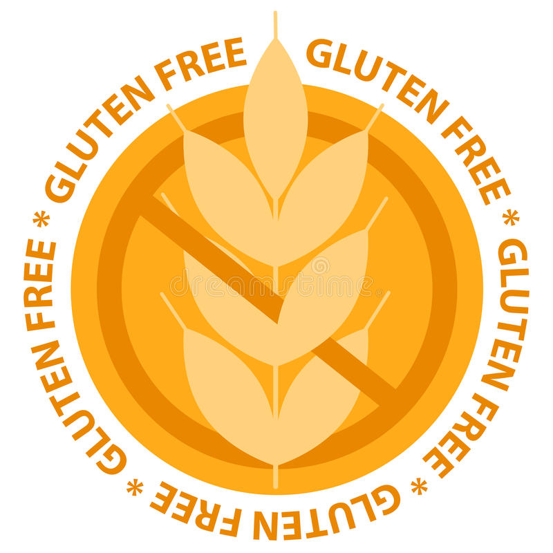 Gluten free food label stamp royalty free illustration