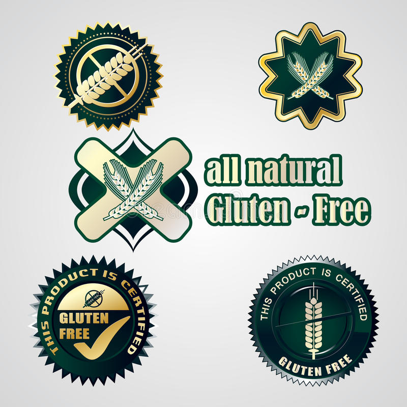 Download Gluten Free Food Labels Collection Royalty Free Stock Photos - Image: 26792468