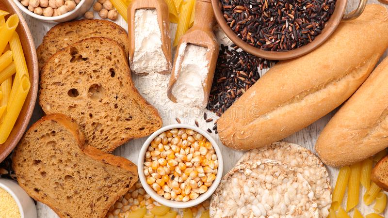 Gluten free food. Selection of gluten free food royalty free stock photo