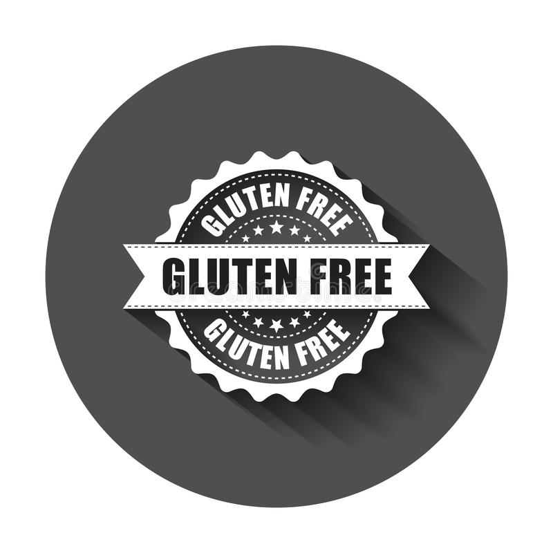 Gluten free grunge rubber stamp. Vector illustration with long s royalty free illustration