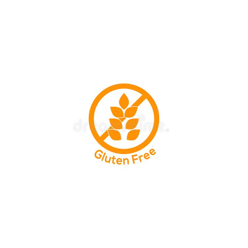 Gluten free icon no wheat symbol. Food sign vector illustration