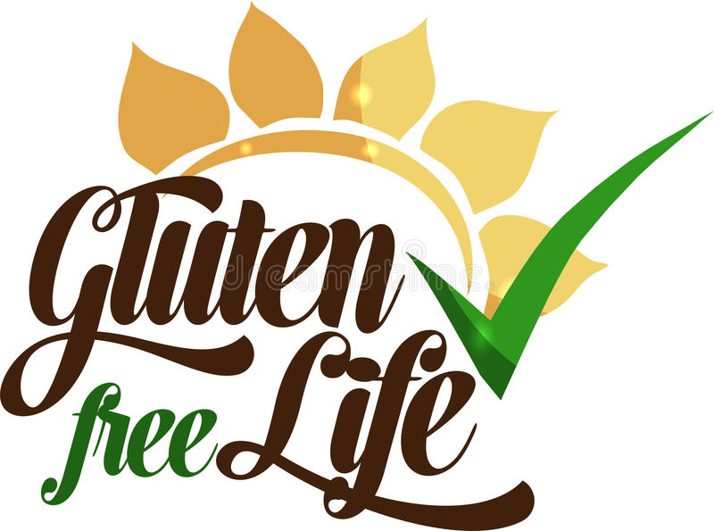Gluten free message royalty free illustration