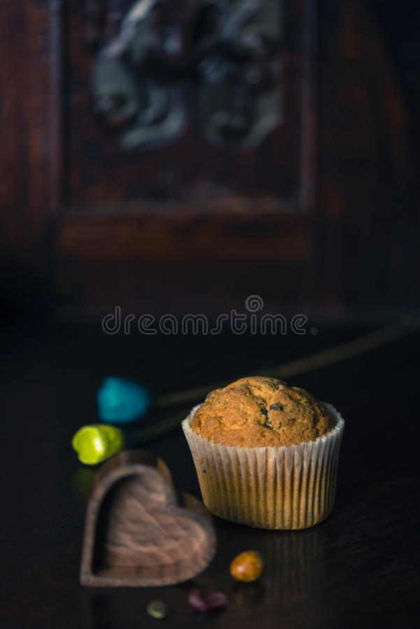 Gluten free muffin. stock images
